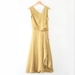 New With Tags BHLDN Alston Midi Dress in Marigold